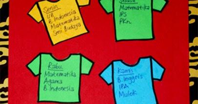 Kreasi dari Kertas Bekas: Jadwal Pelajaran