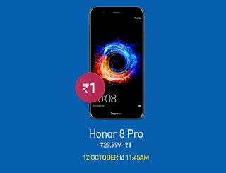 Honor 8 Pro one rupee sale