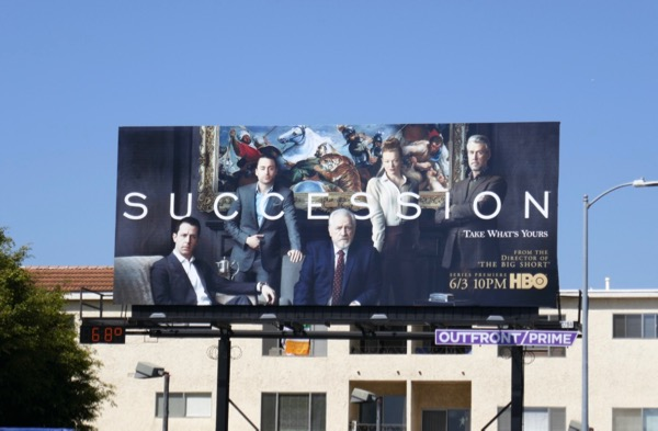 Succession TV series billboard