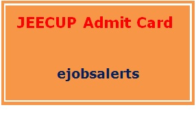 JEECUP Admit Card 2017
