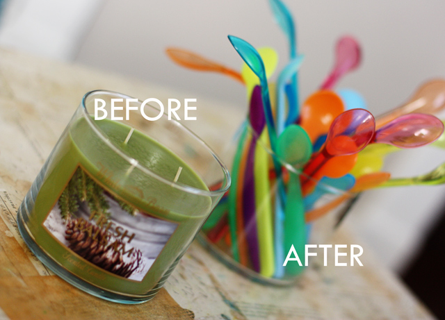 How do i remove candle wax from glass jar