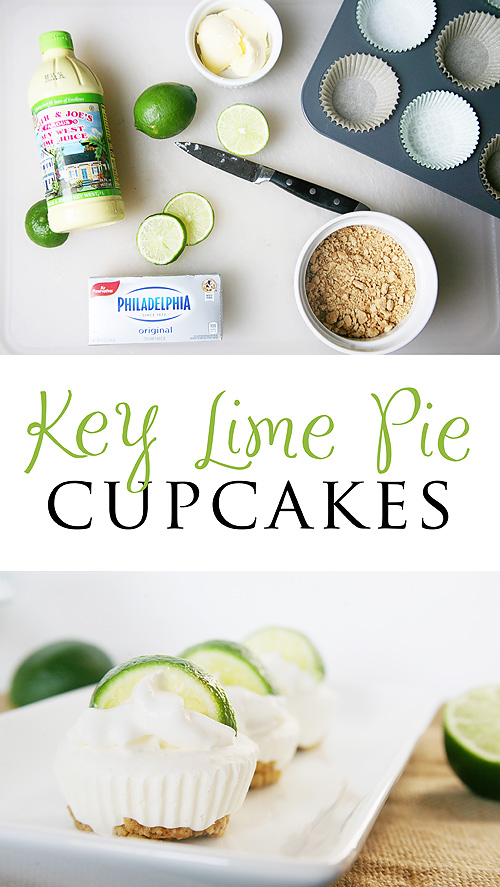 Key Lime Pie Cupcakes - a no bake recipe!