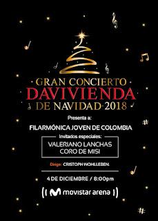 POSTER Gran Concierto DAVIVIENDA de Navidad 2018