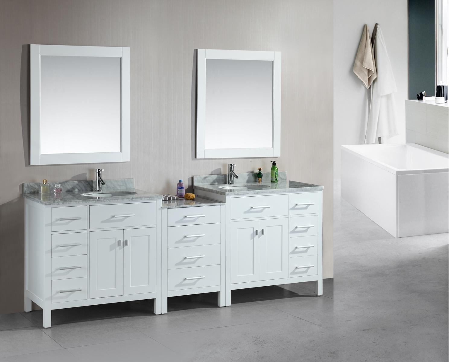 2 Sink Bathroom Vanity #24: Adelina Inch Traditional Old Fashioned Bathroom Vanity Living Room