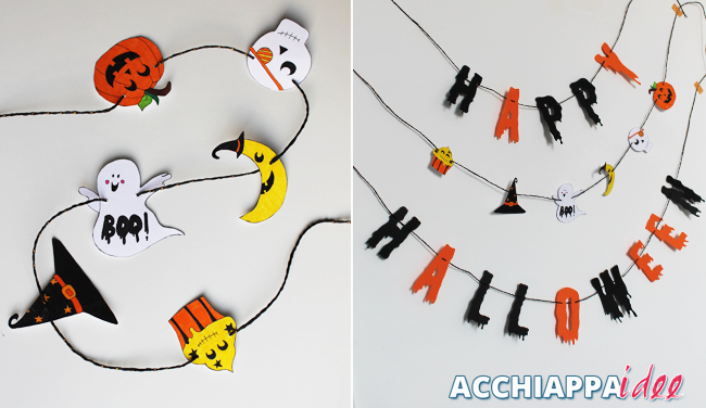 Ghirlanda personaggi e Banner Happy Halloween