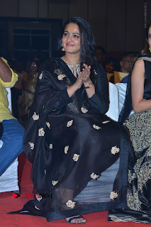 Actress Anushka Anushka Shetty Stills in Black Salwar Kameez at Om Namo Venkatesaya Audio Launch Event  0042.JPG