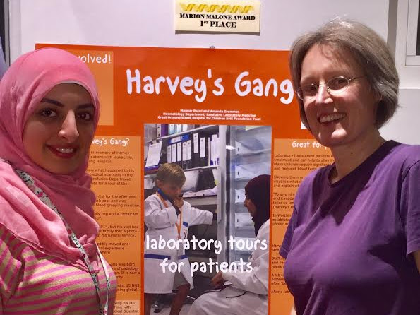 BMS team at Great Ormond Street win 1st prize for Harvey's gang poster