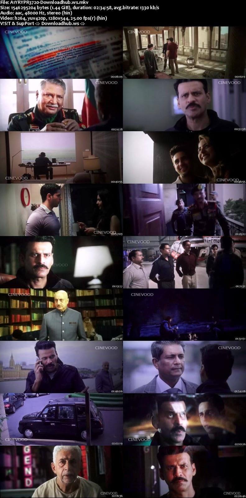 Aiyaary 2018 Hindi 720p Pre-DVDRip x264