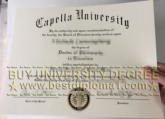 Capella University diploma