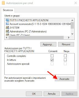 Registro di Windows - Cambiare autorizzazioni 1