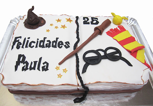 Tarta Libro Harry Potter