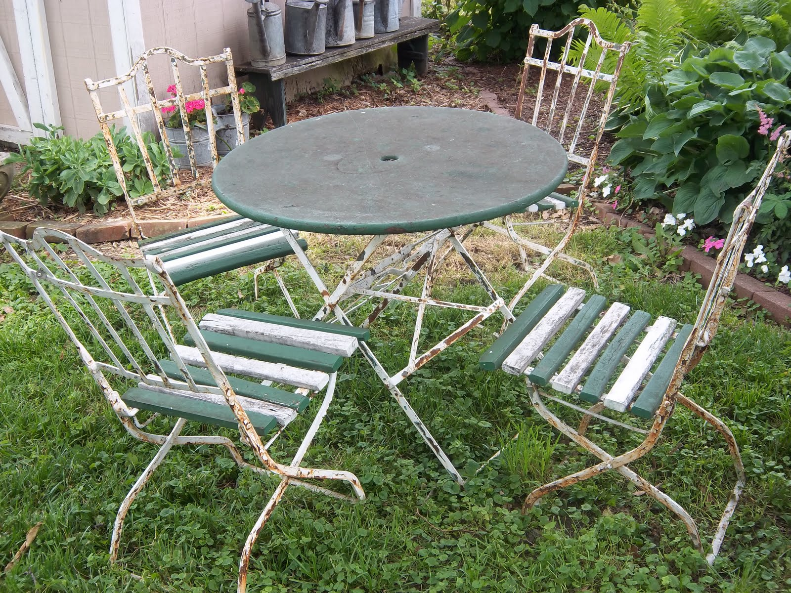 antique french bistro table and chairs steelcase chair parts a sentimental life vintage set