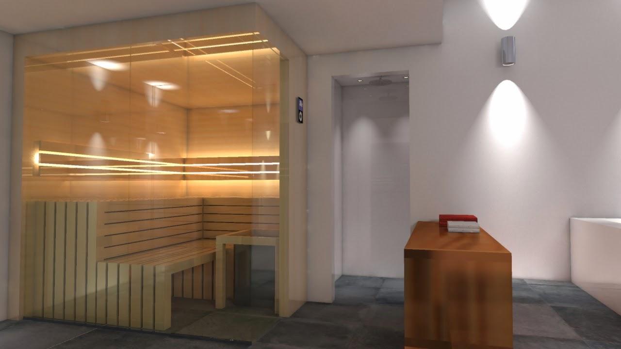 spa und wellness interwellness badplanung mit sauna in. Black Bedroom Furniture Sets. Home Design Ideas