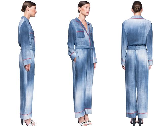 Fendi牛仔連身工作褲 2016