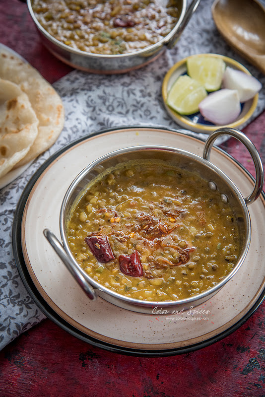 whole mung bean curry, dal tarka