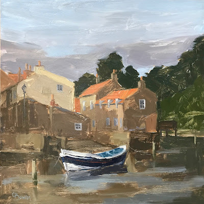 #153 Morning Light, Staithes 8×8″