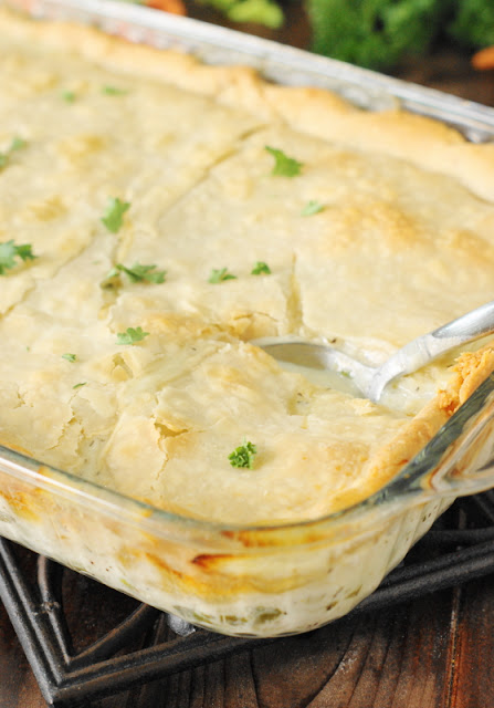 Chicken Pot Pie {2 Ways} ~ Whether you top it with pie crust or biscuit topping, homemade Chicken Pot Pie is truly tasty comfort food in a pan.  Get the recipe for both delicious ways to make it!   www.thekitchenismyplayground.com