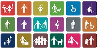 Iconos de accesibilidad con 18 iconos