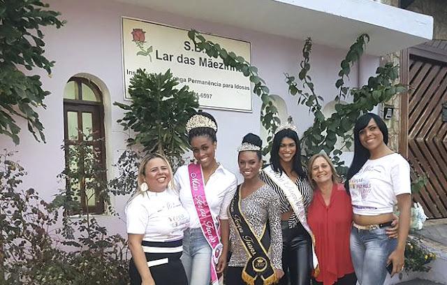 Misses Terça Trans fazem entrega de alimentos para instituição beneficente em São Paulo