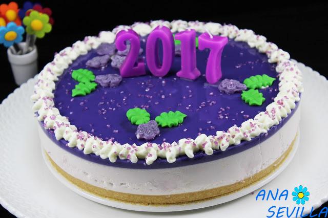 Tarta de caramelos violeta con Thermomix.