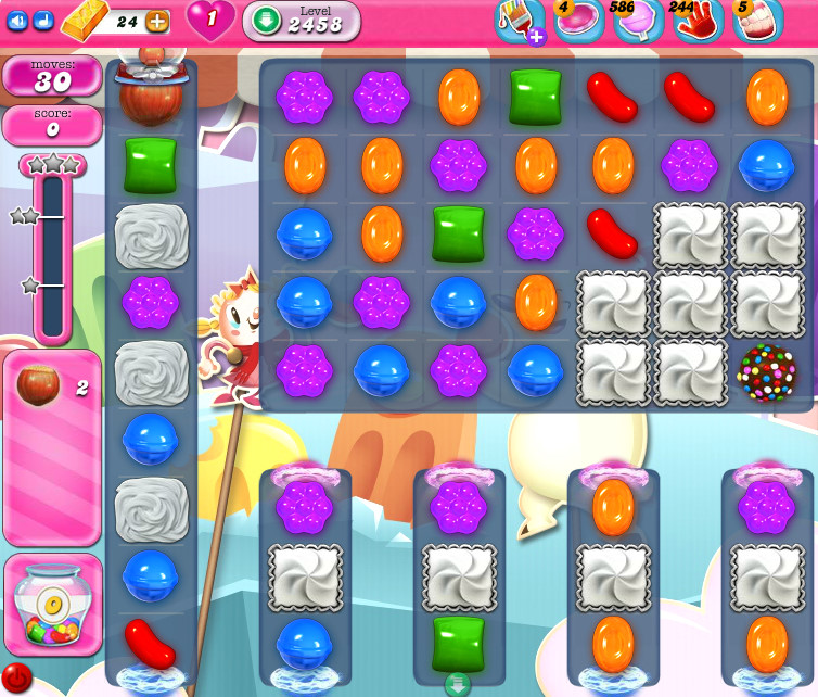 Candy Crush Saga level 2458