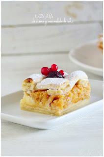 Crostata de crema y mermelada de caki fácil