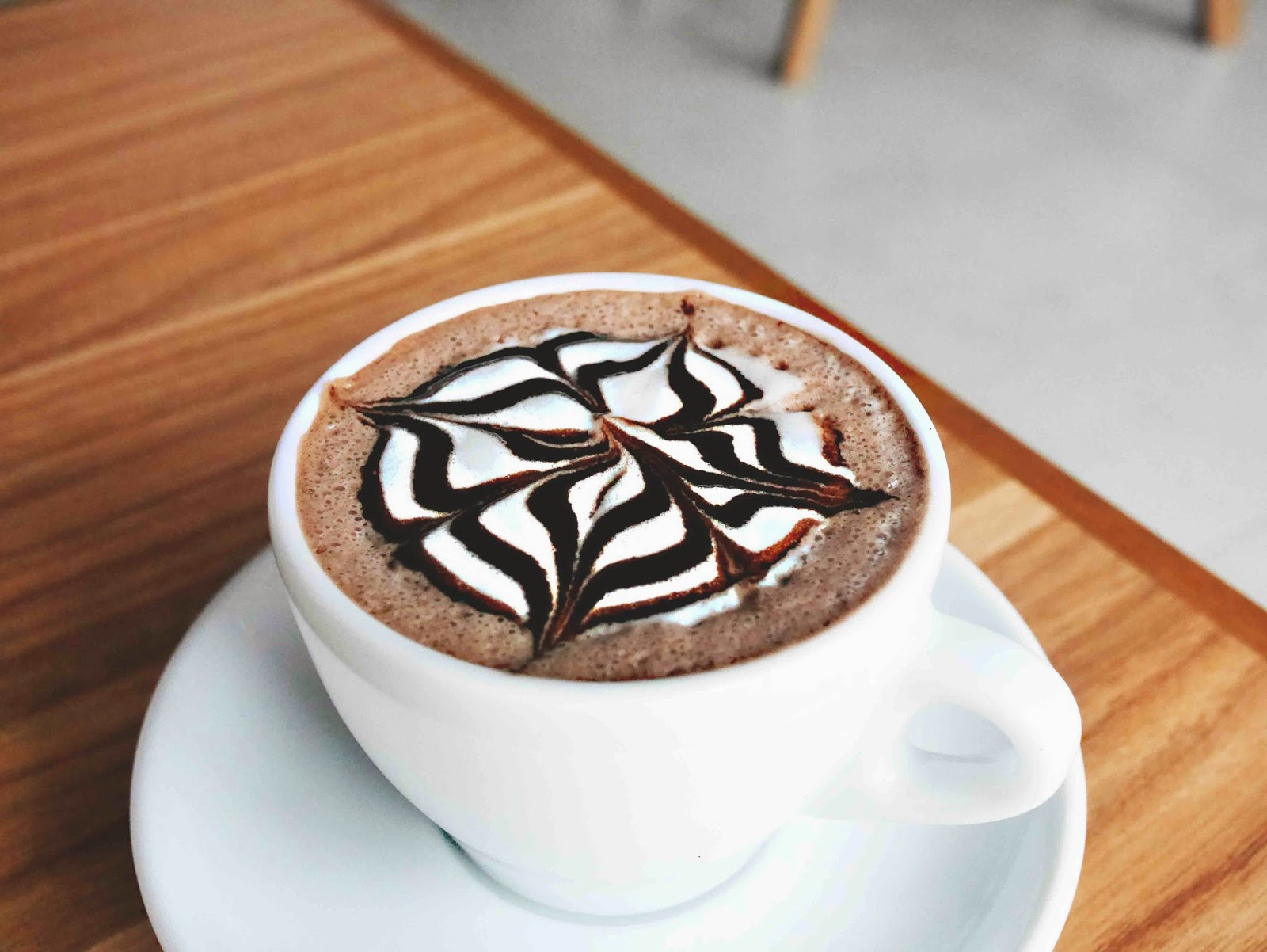 Coffee Art With Chocolate Syrup Lulabyspoon Indonesian Food Blogger And Photographer