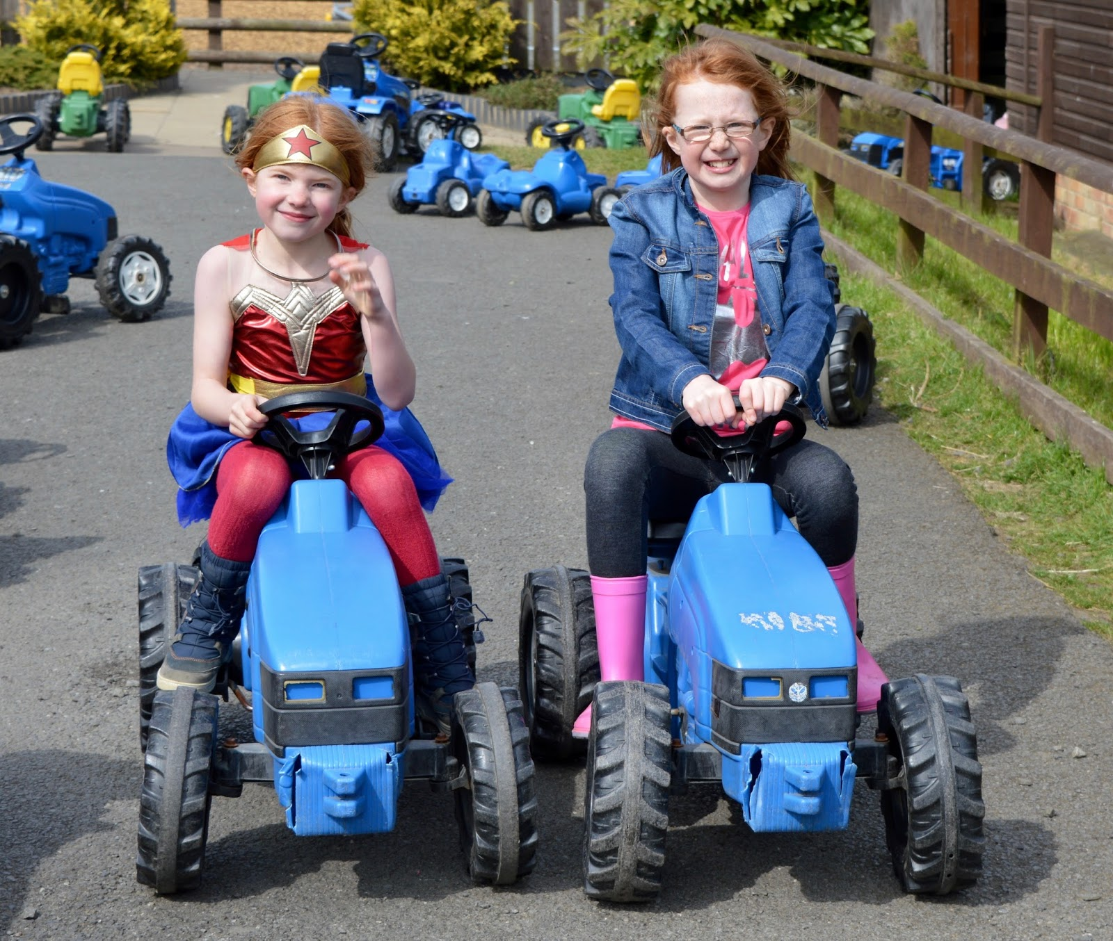 Birthday Parties at Whitehouse Farm in Northumberland | What to expect & review - tractors