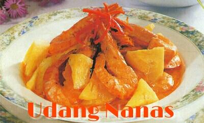 Resep udang nanas