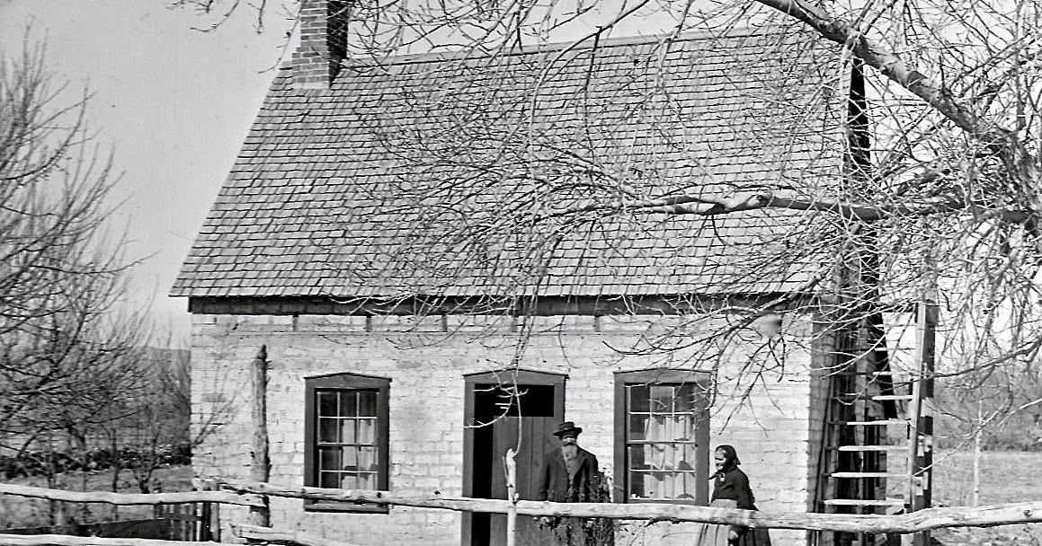 Mt. Pleasant Pioneer : Three Early Pioneer Homes Taken From Glass ...