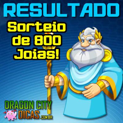 Resultado do Super Sorteio de 800 Joias - Dezembro 2016