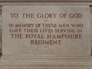 Memorial to men of Royal Hampshire Regiment