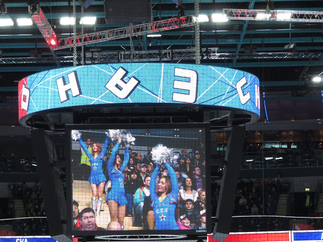 St. Petersburg SKA cheerleaders on the Jumbotron