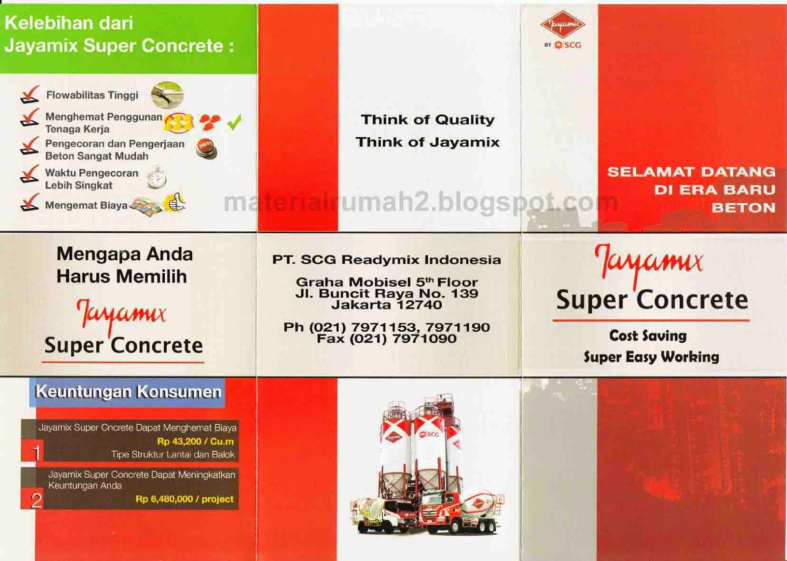 Beton Readymix - Jayamix - Super Concrete