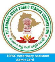 TSPSC Veterinary Assistant Admit Card