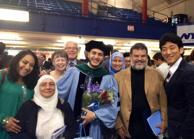 Dr El-Sayed at Graduation with friends and family