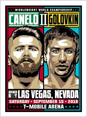 "Canelo Alvarez vs Gennady ""GGG"" Golovkin 2 Screen Print by Stolitron x Phenom Gallery"