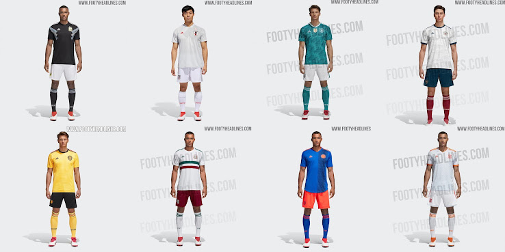 Adidas 2018 World Cup Away Kits Released - Footy Headlines dca12e0f0