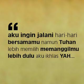 DP BBM Kangen Almarhum Ayah