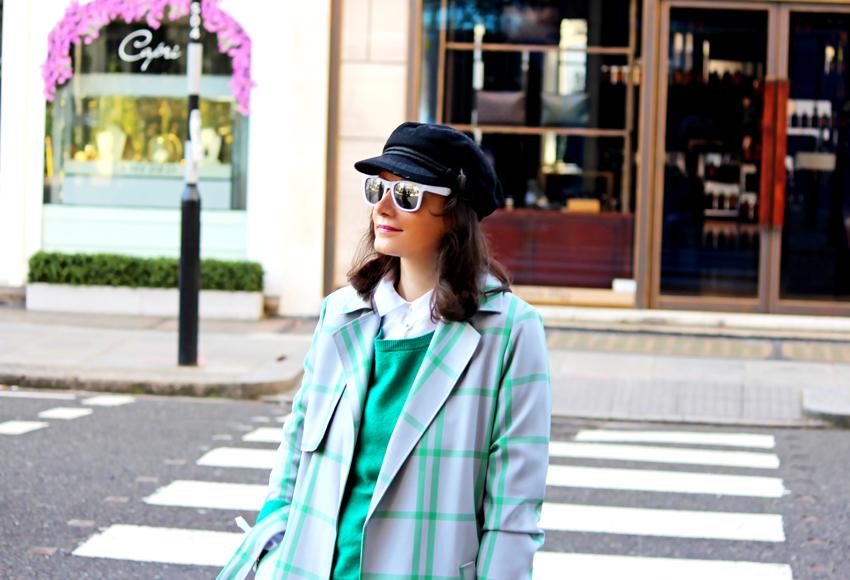 GREEN  Checkered  COAT