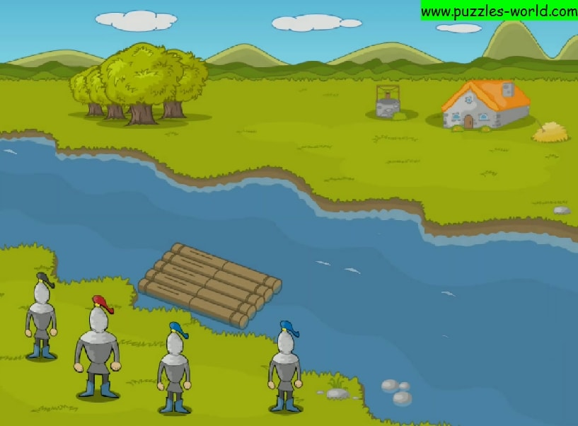 River Crossing : Four soldiers puzzle