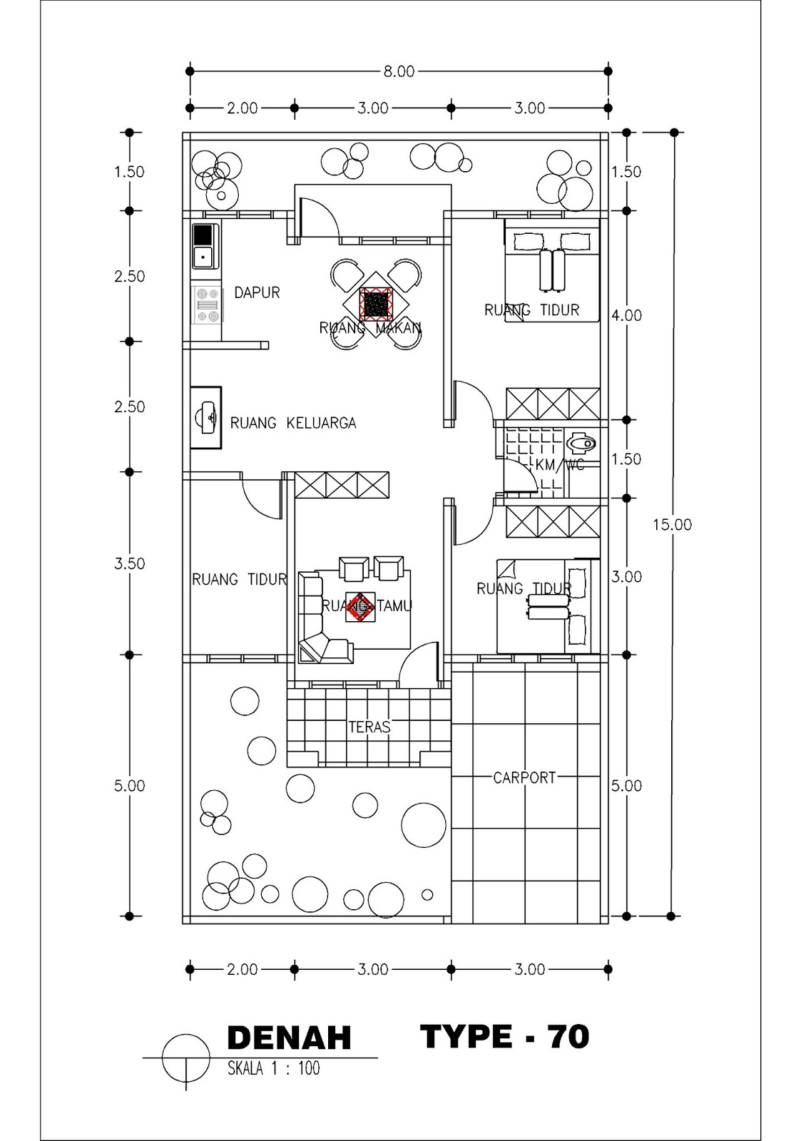 Layout Rumah Type 70 Denah Rumah Minimalis Type 70 Traffic Club