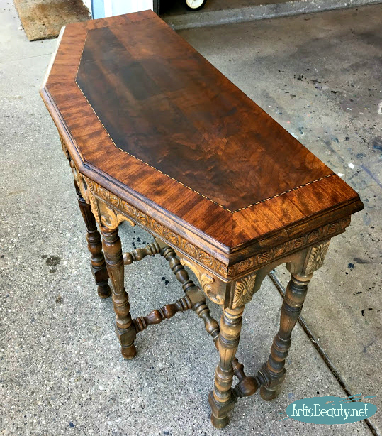 minwax wood finish penetrating stain in dark walnut 2716 half occasional table stained makeover
