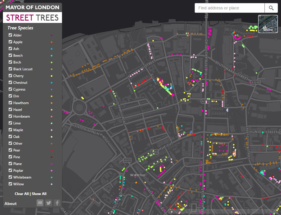 London Tree Map