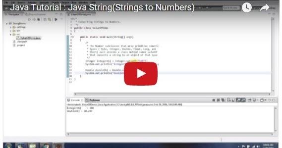 Java ee java tutorial java string strings to numbers for Pool design pattern java