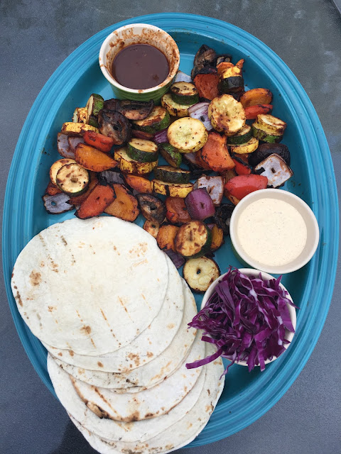Barbecue Vegetable Tacos with BBQ Sauce Creama