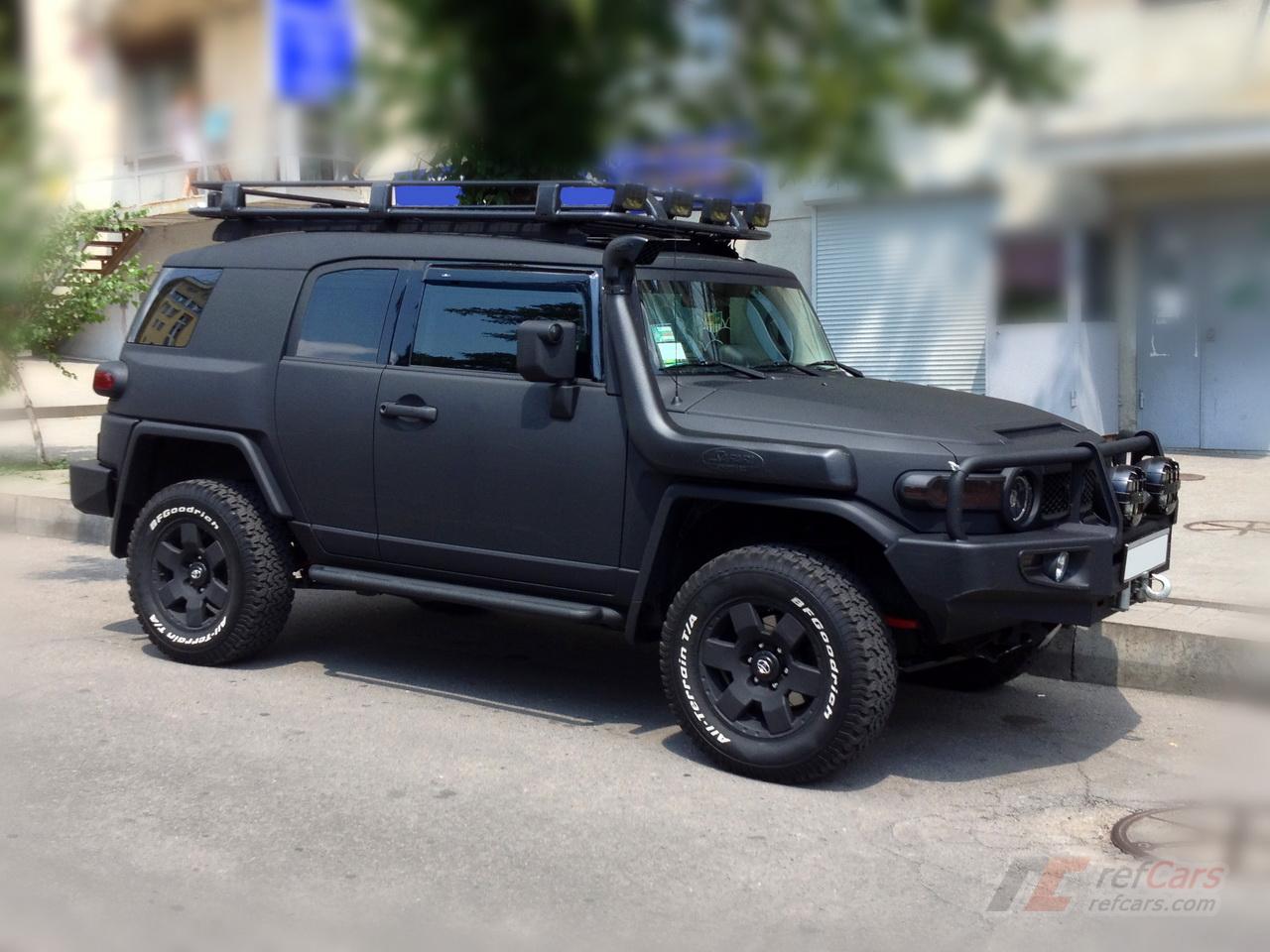 Refcars Matte Black Tuning Toyota Fj Cruiser