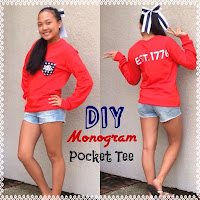 diy monogram pocket tee, diy preppy t-shirt, diy monogram shirt, lauren banawa