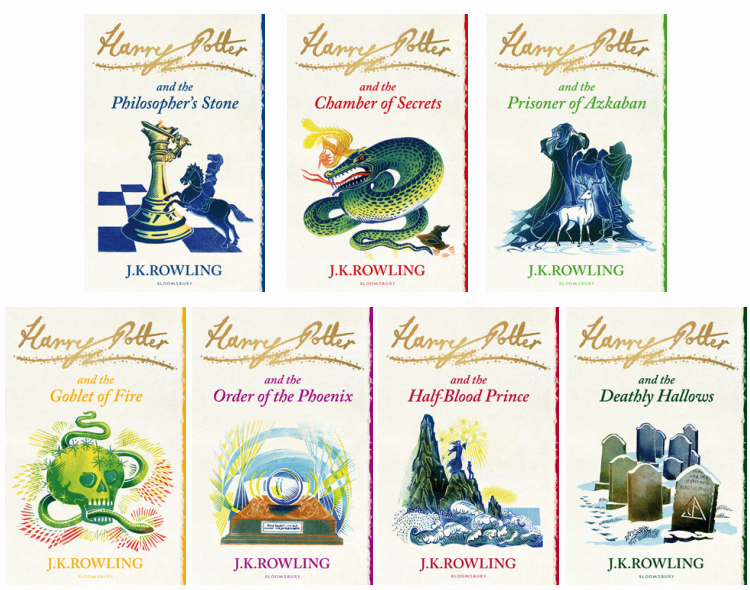 Harry Potter UK Special Edition Book Covers