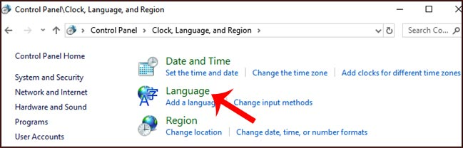 How to change keyboard language in Windows 10